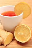 Healthy tea with ginger and lemon Royalty Free Stock Image