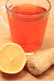 Healthy tea with ginger and lemon Royalty Free Stock Photography
