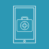 Healthy technology with first aid box. Vector illustration eps 10 Royalty Free Stock Photo