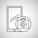 Healthy technology with first aid box. Vector illustration eps 10 Royalty Free Stock Photography