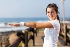Healthy teen girl stock photo
