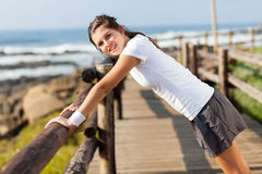 Healthy teenager workout royalty free stock photography