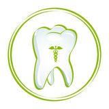Healthy teeth. Illustration of healthy teeth on white background Stock Photography
