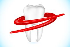 Healthy Teeth. Illustration of tooth paste around healthy teeth Royalty Free Stock Photo