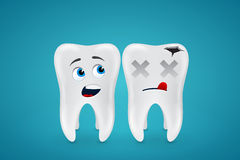 Healthy teeth and dead Stock Images