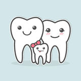 Healthy teeth family. Stock Image