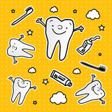 Healthy teeth seamles pattern stock photos