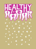 Healthy teeth. Typographic retro dental poster. Vector Illustration. Royalty Free Stock Image