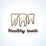 Healthy teeth. Vector logo Royalty Free Stock Images