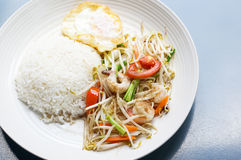 Healthy thai food. The healthy thai food for lunch Royalty Free Stock Photo