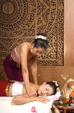 Healthy Thai Massage. Healthy traditional Thai massage in traditional way Stock Photos