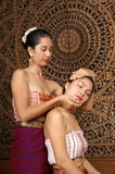 Healthy Thai Massage. Healthy traditional Thai massage for good health Stock Photo