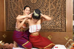 Healthy Thai oil Massage Stock Photography