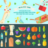 Healthy time  illustration. Stock Photography