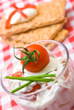 Healthy tomato snack Royalty Free Stock Image