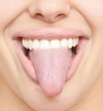 Healthy tongue Stock Photography
