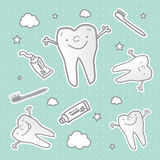 Healthy tooth cartoon wallpaper Royalty Free Stock Photos