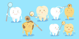 Healthy tooth with decay Royalty Free Stock Image