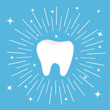 Healthy tooth icon. Round line circle. Oral dental hygiene. Children teeth care.  Royalty Free Stock Photos