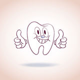 Healthy tooth mascot cartoon character Stock Photography