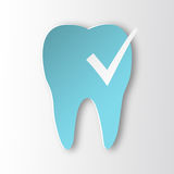 Healthy tooth Status infographic icon with check symbol. Royalty Free Stock Images