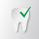 Healthy tooth Status infographic icon with check symbol. Stock Photos