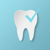 Healthy tooth Status infographic icon with check symbol. Royalty Free Stock Photos