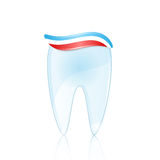 Healthy tooth with toothpaste Royalty Free Stock Images
