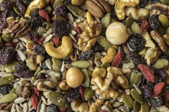 Healthy trail mix Royalty Free Stock Photo