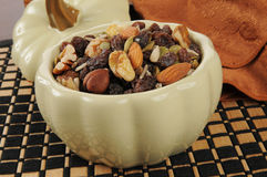 Healthy trail mix snack Royalty Free Stock Photos