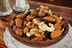 Healthy trail mix Royalty Free Stock Photography