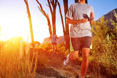 Healthy trail running Royalty Free Stock Image