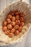 Healthy Trick or Treat snack Mandarin oranges Jack o Lantern faces stock photos
