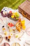 Healthy tropical summer picnic Stock Photo