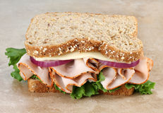Healthy Turkey and Cheese Sandwich Royalty Free Stock Image