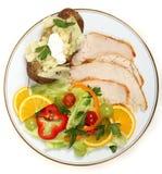 Healthy turkey salad Royalty Free Stock Photo