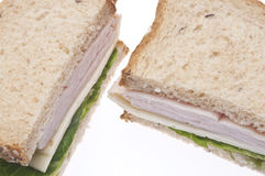 Healthy Turkey Sandwich Royalty Free Stock Photography