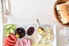 Healthy turkish breakfast Royalty Free Stock Photo