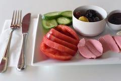 Healthy turkish breakfast Stock Photos