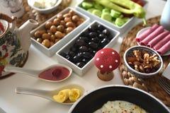 Healthy turkish breakfast Royalty Free Stock Image
