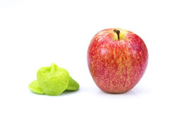 Healthy and unhealthy apples Royalty Free Stock Images