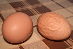 Healthy and unhealthy egg Royalty Free Stock Photo