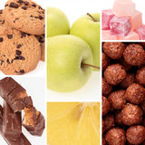 Healthy and Unhealthy Food royalty free stock photos