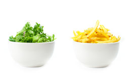Healthy or unhealthy food Stock Image