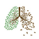 Healthy and unhealthy lungs concept. Healthy and unhealthy lungs vector concept. Respiratory system vector concept illustration vector illustration