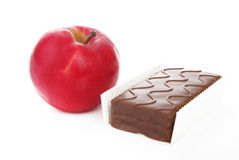 Healthy and Unhealthy Snacks Royalty Free Stock Photo