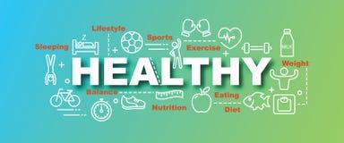Healthy vector trendy banner Royalty Free Stock Photos