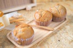 Healthy vegan banana muffins. Selective focus stock images