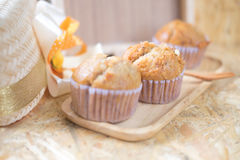 Healthy vegan banana muffins royalty free stock image