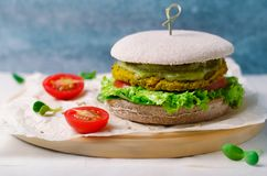 Healthy vegan burger, Vegan Meal stock images